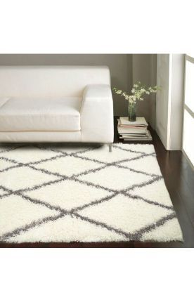 Rugs USA Moroccan Diamond Shag Grey Rug