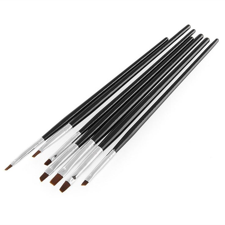 ZGY New 7pcs UV Gel Acrylic Nail Art Painting Drawing Tools Design Builder Salon DIY Brush Pen Set >>> Visit the image link more details.