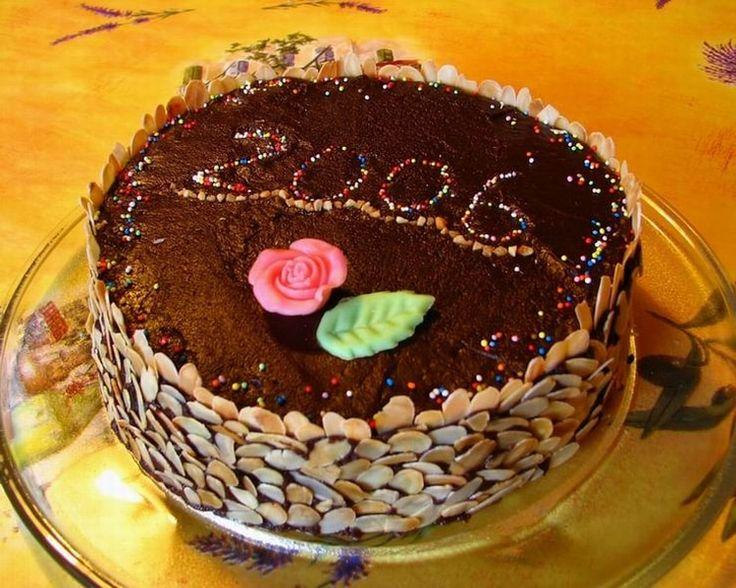 Génoise à la confiture glacée au chocolat