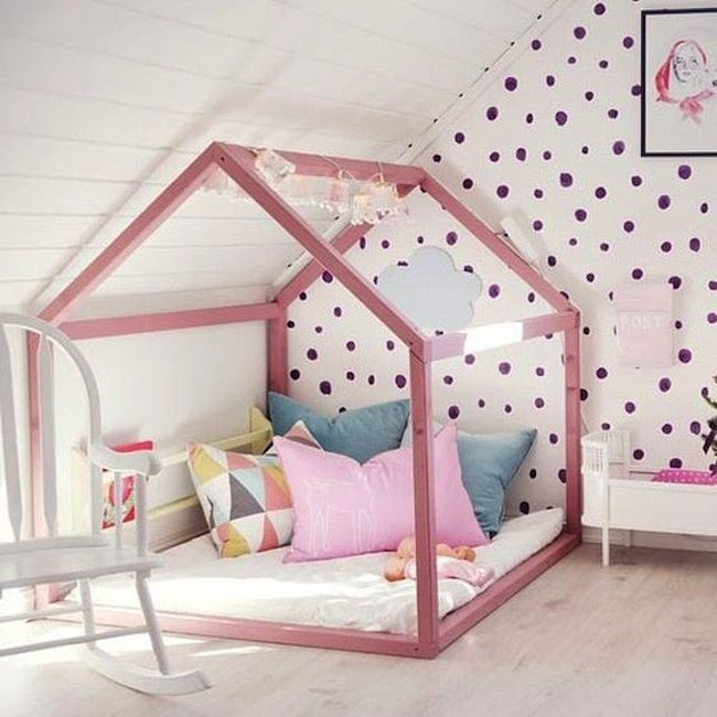Chambre d'enfant sous combles