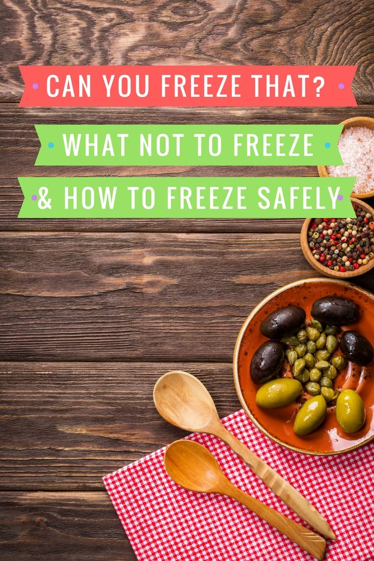 Can You Freeze That? The 'Don't Freeze These Foods' List!
