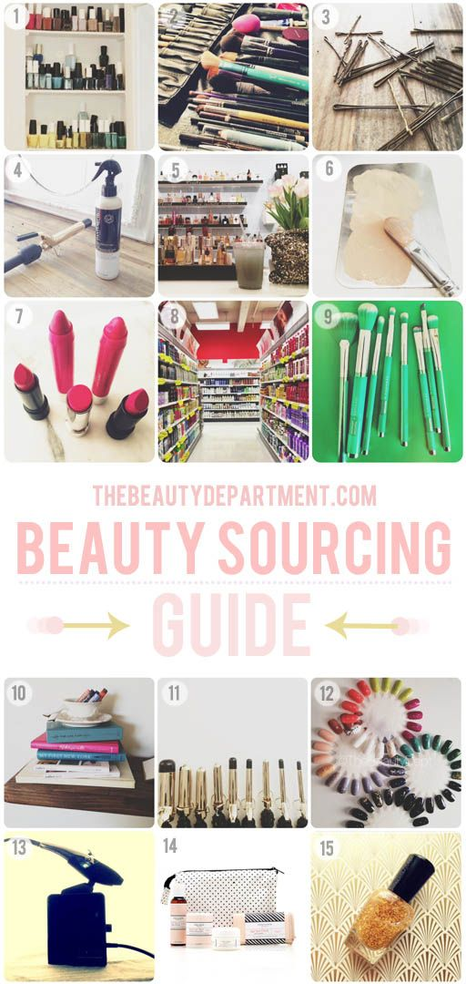 BEAUTY SOURCE GUIDE: Our favorite places (both online and offline) for beauty supplies!