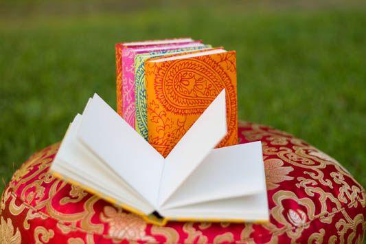 Handgjord anteckningsbok Orange