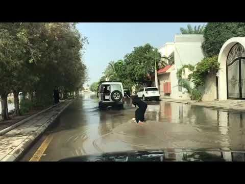 Making use of the flooded roads - YouTube