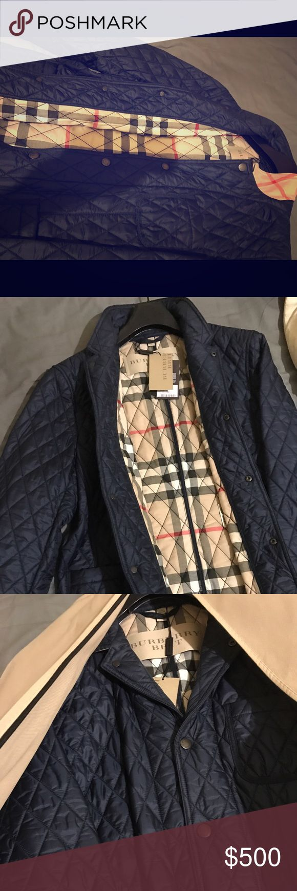 Burberry men quilted blazer jacket 100% authentic Brand new with tags men's quilted blazer jacket 100% authentic size large it can fit a m body too Burberry Jackets & Coats Lightweight & Shirt Jackets