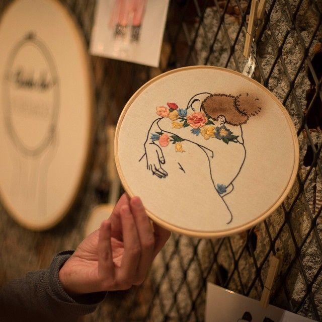 Um bordado poético: raízes  {bordado e pastel de 20cm, R$200, tiragem única, vendido} #loveporn