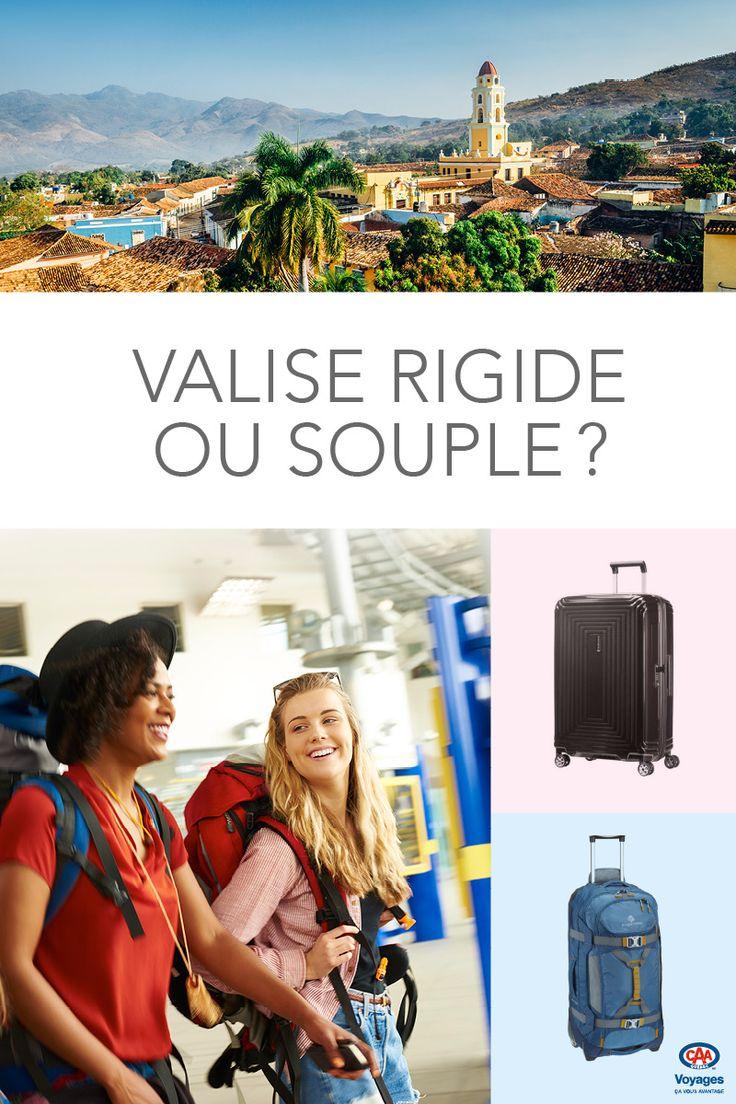 Une valise est un achat � long terme. Comme elle vous accompagne dans vos d�placements, elle peut �tre un fardeau ou une alli�e de taille! Devez-vous la prendre en tissu ou � coque rigide? Avez-vous besoin de 2 roues ou 4 roues. Cliquez pour le d�couvrir!