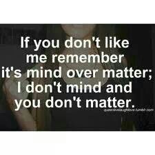 Yeap don't matter