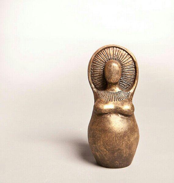 Sun Goddess Inspired - Abundance Goddess Fertility Doula Mother Earth Sculpture…