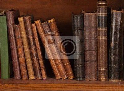 Fotobehang Antieke boeken op de plank