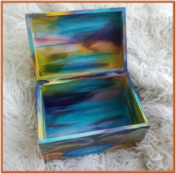 Memory Box Painting Ideas By Jose Miller Jewelry Box Diy Diy Box Wooden Diy