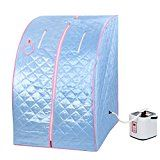 #4: Blue 2L Portable Home Steam Sauna Spa Slimming Full Body Detox Therapy Loss Weight