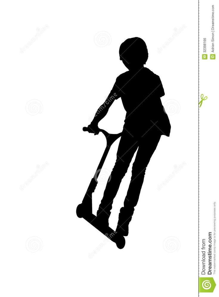 scooter silhouette - Google Search