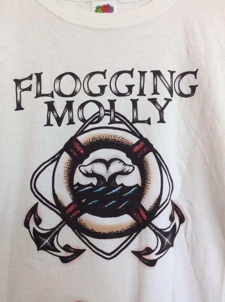 Flogging Molly RARE Tour Concert Shirt 2006 Lifesaver Irish Punk HTF #FruitoftheLoom #ShortSleeve