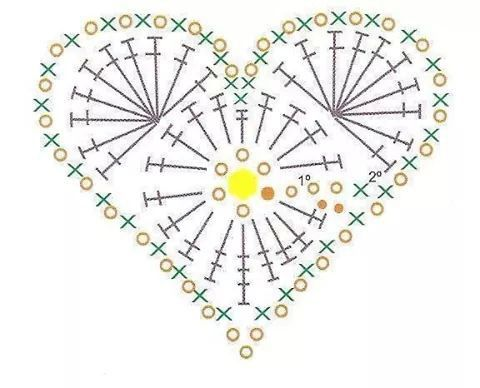 1288 Best Images About Crochet Hearts On Pinterest