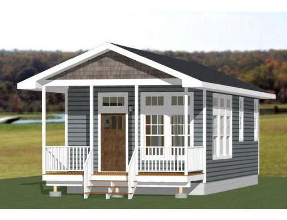 16x32 House 1 Bedroom 1 Bath 511 Sq Ft Pdf Floor Plan Etsy In 2020 Shed To Tiny House Shed Floor Plans Cottage House Plans