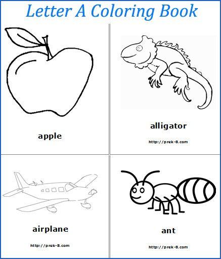 23 Best Preschool Letter A Images On Pinterest Free Printables