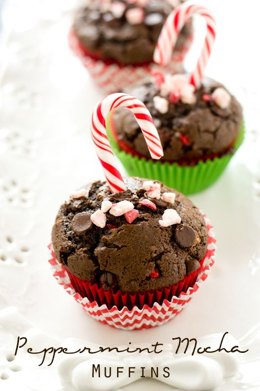 Peppermint Mocha Coffee Muffins >> by Tastes of Lizzy T's. Love peppermint mocha coffee? You'll love these Peppermint Mocha Coffee Muffins that are double the chocolate and double the peppermint. Rich, moist muffins that are great with your morning cup of coffee. #ad #HolidayMadeSimple