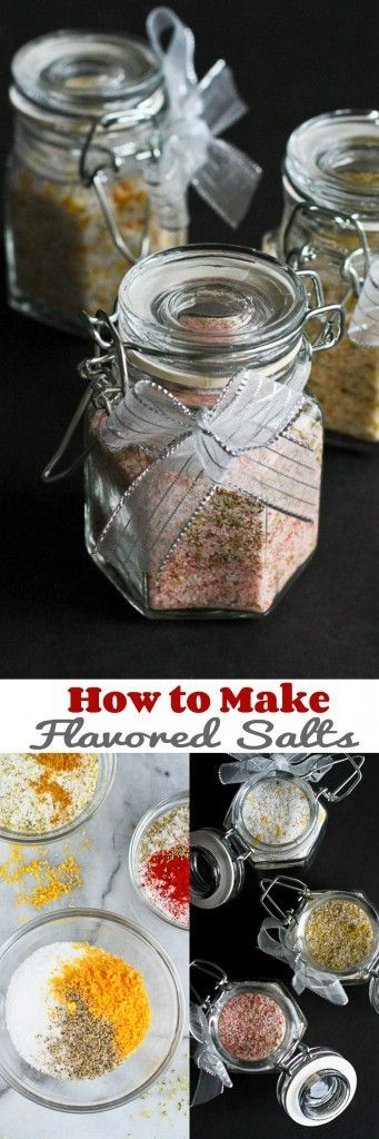 How to Make Flavored Salts...Great for holiday gifts! Plus 5 More Homemade Gift Ideas | cookincanuck.com