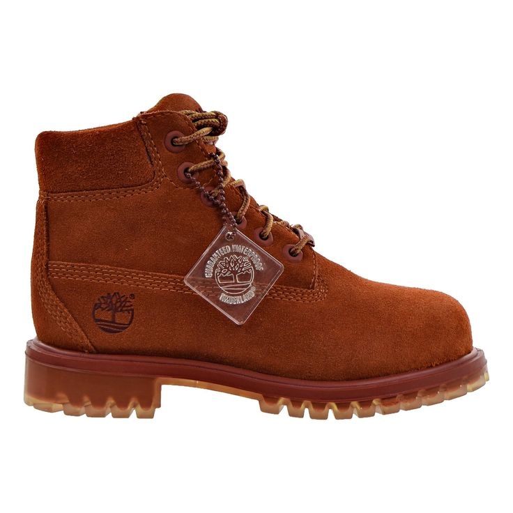 Timberland 6 Inch Premium Waterproof Little Kids Boots Rust tb0a1ai2 12.5 M  US ***