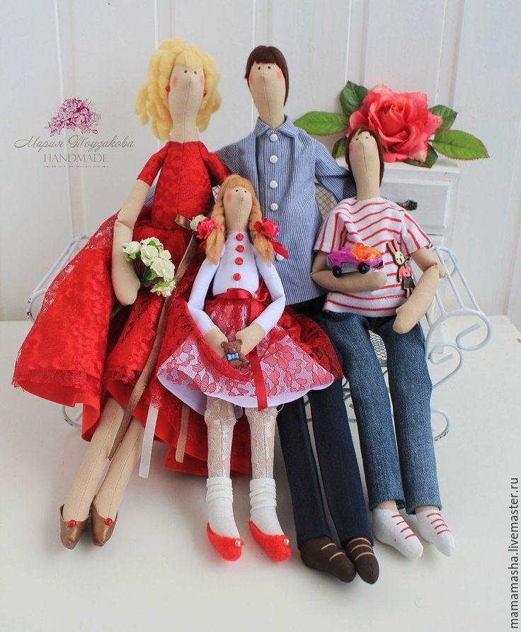 Купить Тильда семья! - разноцветный, Тильда семья, тильда семья д, тильда семья ю