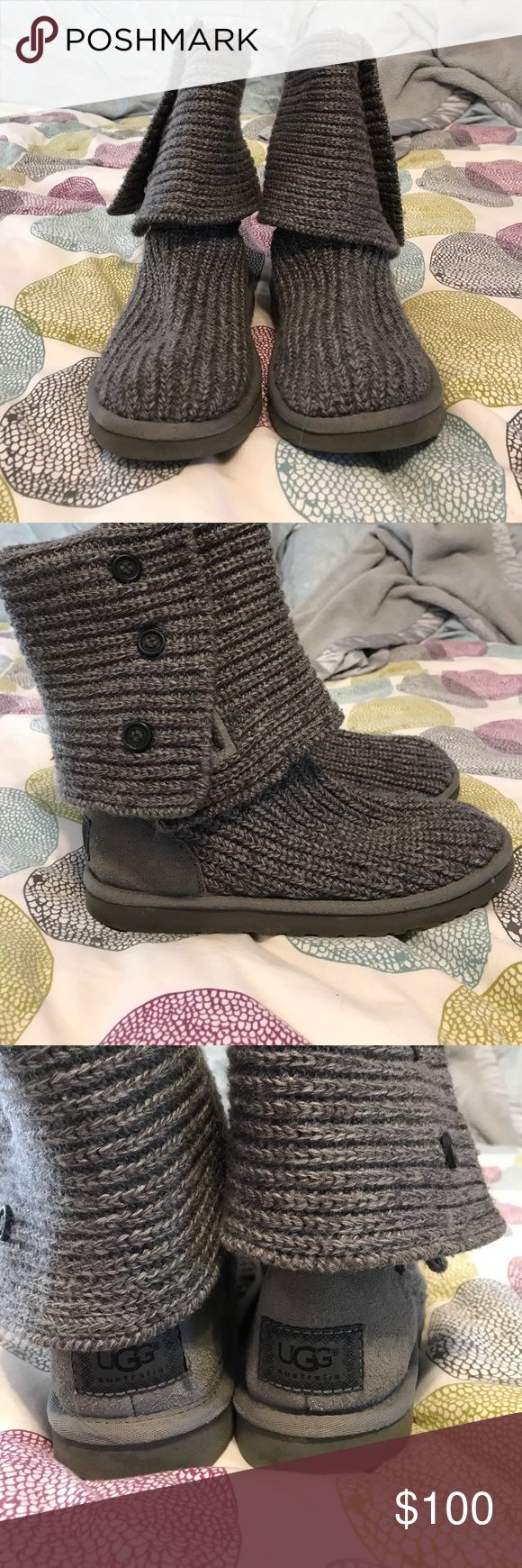 Ugg classic cardy 7 EUC!  I hardy wore these bc I was always scared to get them dirty 😂 they are in great condition, no snags or flaws in the wool.  The bottoms are a little dirty but I can clean them up before selling.  Very very minimal scuffing on heels.  Truly excellent condition! UGG Shoes Winter & Rain Boots