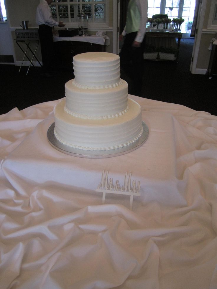 Simple and Pretty, Publix Wedding Cake