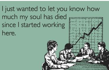 And your boss and the company care soooooo much about this ...