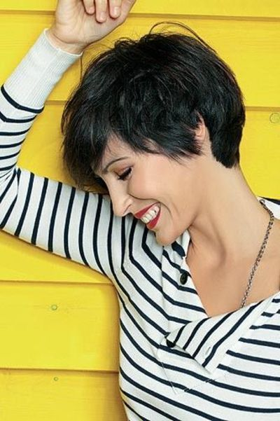 lola loves the softness of this short cut and how it shows off the head shape www.lolabyginapayne.com