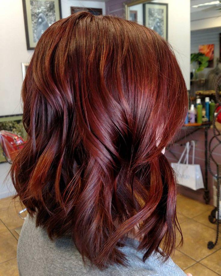 Best 25+ Medium auburn hair ideas on Pinterest | Red hair cuts, Medium red hair and Red brown ...