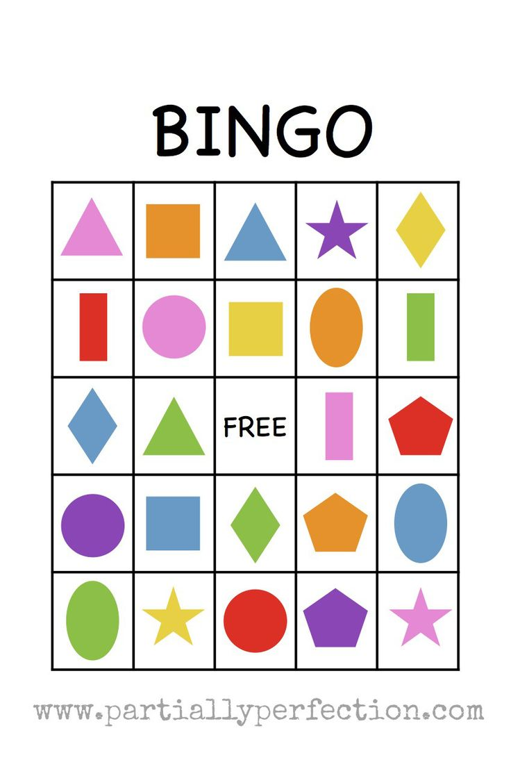 Spanish colors for preschool - This Printable Shape Bingo Is Great For Preschoolers Learning Their Shapes And Colors It S Equally Fun For Older Kids Who