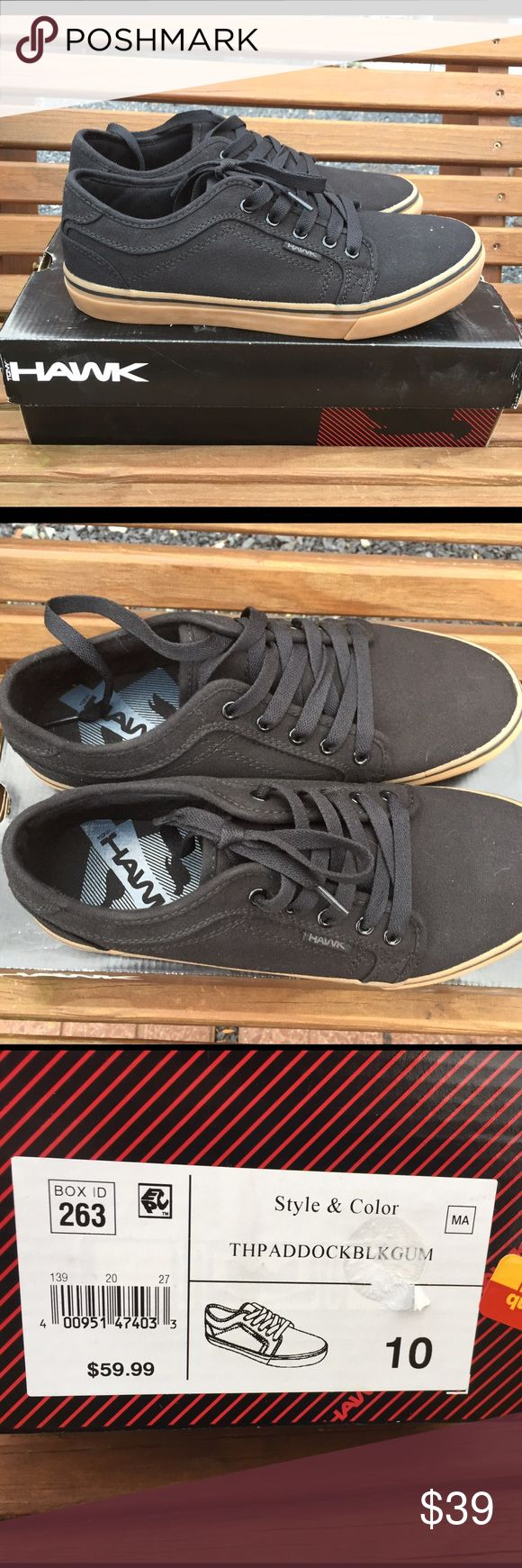 Tony Hawk TH Paddock Black Canvas Sneakers Size 10 New in the box. Black. Size 10 Tony Hawk Shoes Sneakers