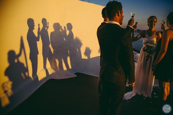 Cocktail Hour | Santorini Wedding by Stella and Moscha - Exclusive Greek Island Weddings | Photo by Nikos P. Gogas