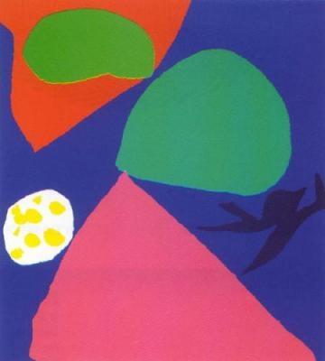 Gouache for St. Ives Window (Silkscreen print) by Patrick Heron
