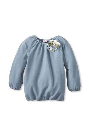 50% OFF Il Gufo Kid's Embellished Top (Powder Blue)