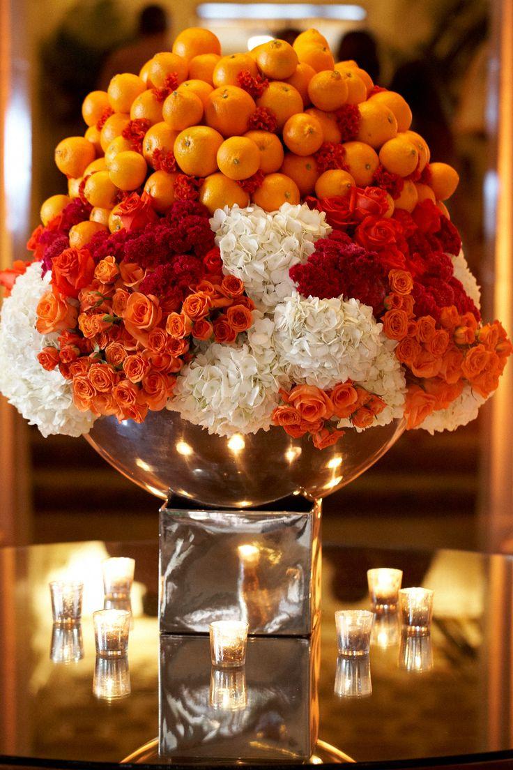 Best ideas about orange centerpieces on pinterest