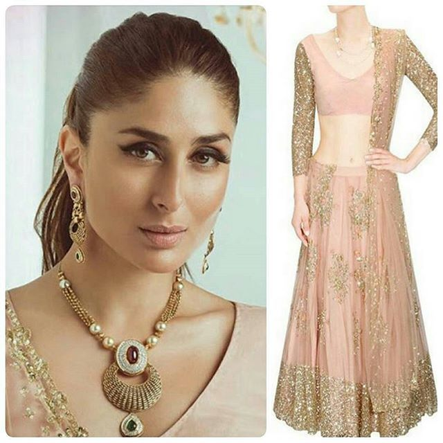 Kareena Kapoor Khan wearing Astha Narang for the latest Malabar gold and diamonds ad.