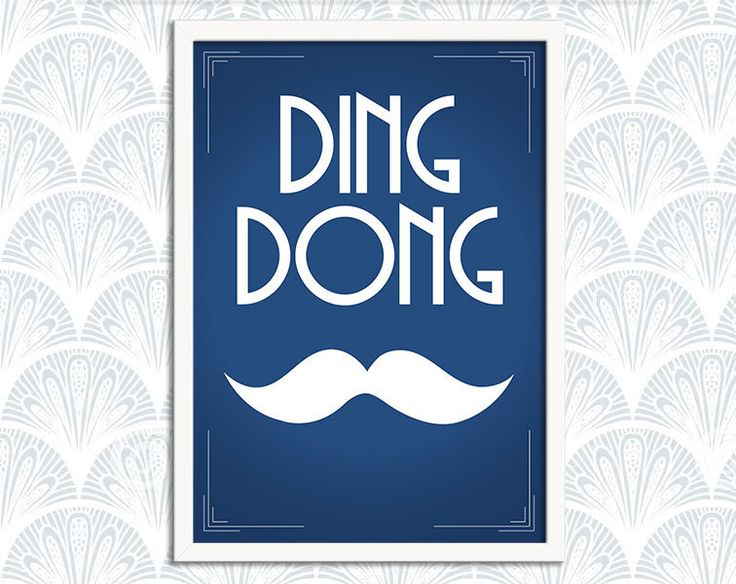 Ding Dong Chap Art Print Poster – Leslie Phillips - DIGITAL DOWNLOAD - Wall Decor, Inspirational Print, Home Decor, Gift - pinned by pin4etsy.com