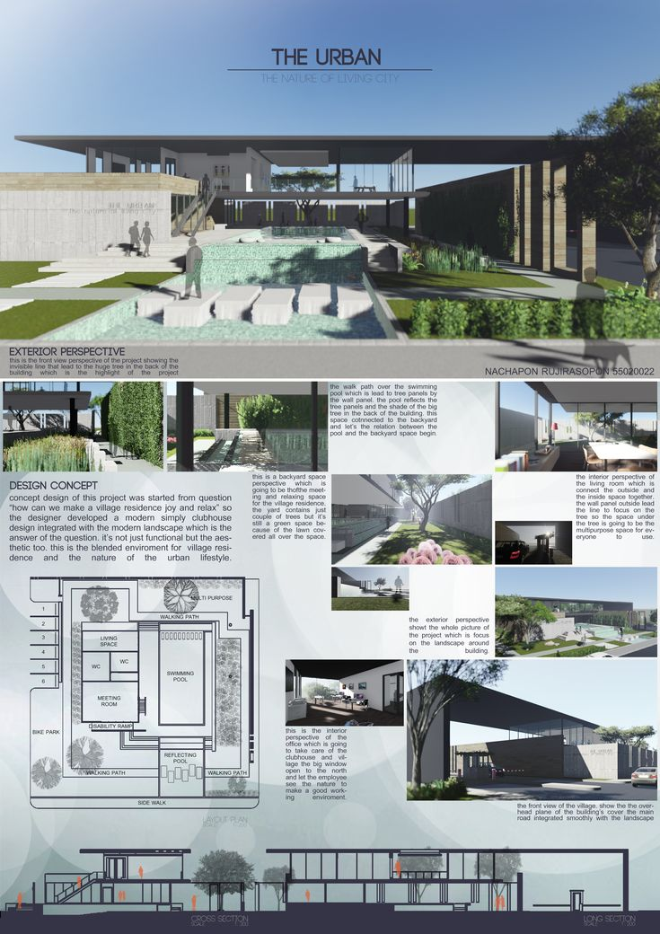 The Urban ,Clubhouse & Landscape design project. Faculty of Architecture ,KMITL ,Thailand