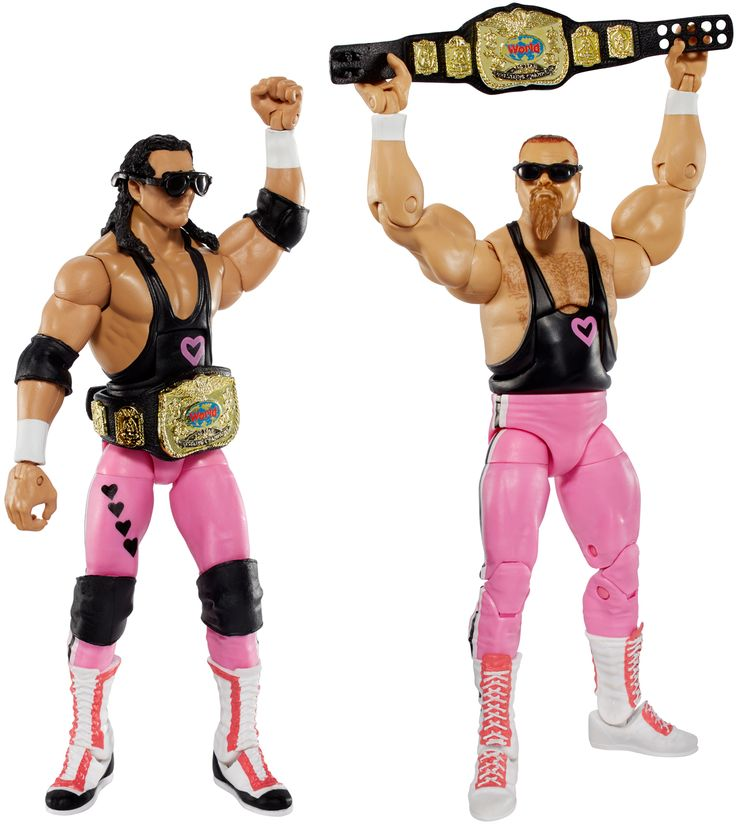 Bret Hart & Jim Neidhart (Hart Foundation) - WWE Elite 43 Toy Wrestling Action Figures