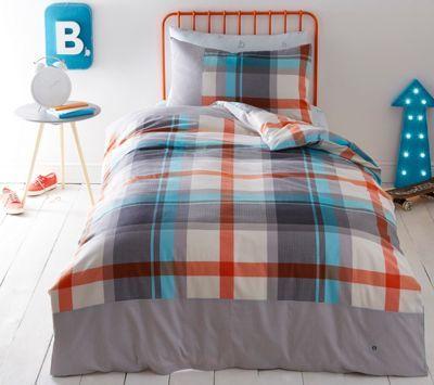 Baker by Ted Baker Kids' multicoloured 'Check' duvet cover and pillow case set | Debenhams