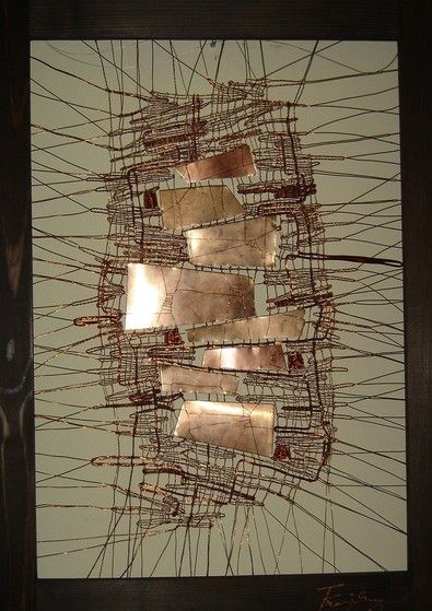 Jana Frajkorova: Bobbin, Lace, Bobbin Lace, Inspiration Lace, Abstract Bobbin, Frajkorova Metals, Metals Art, Metals Bobbin, 7 Metals