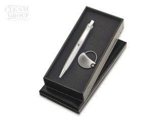 Set de bolígrafo zap y llavero silver Miami