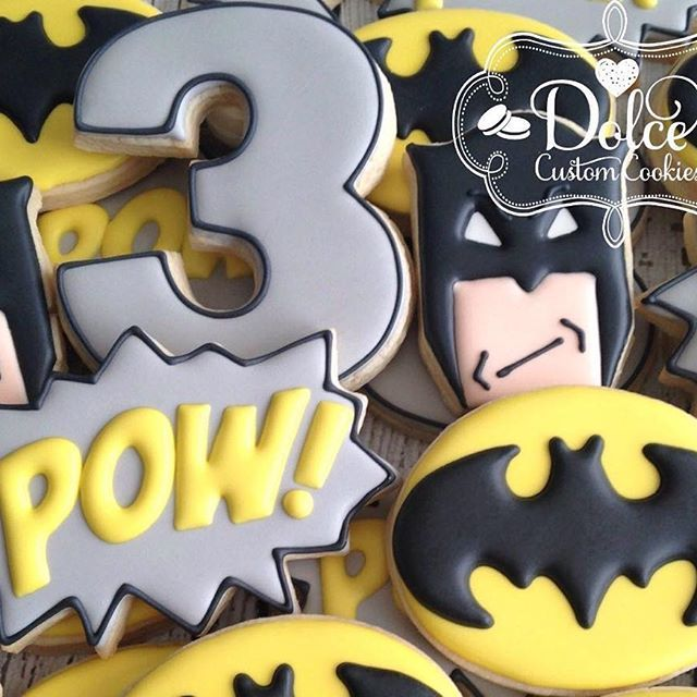 Batman Birthday Cookies. Big thanks to @sweetsugarbelle for the easy Batman face tutorial! #batman #batman cookies #superhero #superherocookies #birthdaycookies #decoratedcookies #customcookies #sugarcookies #cookies #cookiesintoronto #toronto #torontobakery #torontocookies #torontodecoratedcookies #torontosugarcookies #tdot #yyz #etsy #dolcecustomcookies