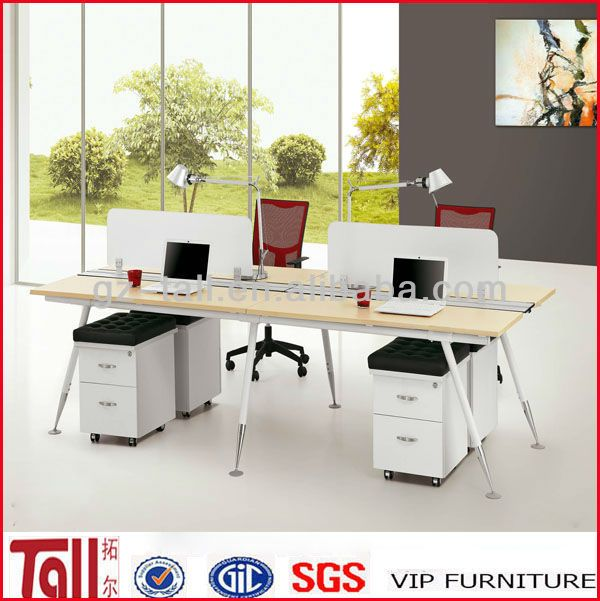 Tl E04 Mdf Melamine Office Desks For 4 Person From Tall   Buy Melamine Office  Desks,Office Desk For 4 Person,Mdf Melamine Product On Alibaba.com