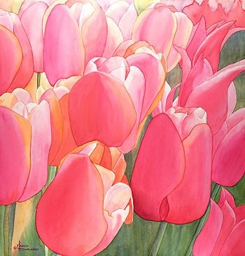1573 best images about art watercolor flowers plants on for Oregon craft floral