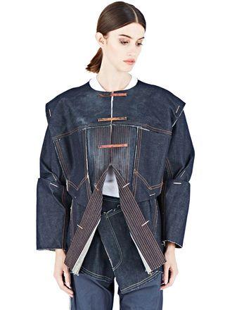 Hannah Jinkins Heavy Top-Stitch Denim Jacket