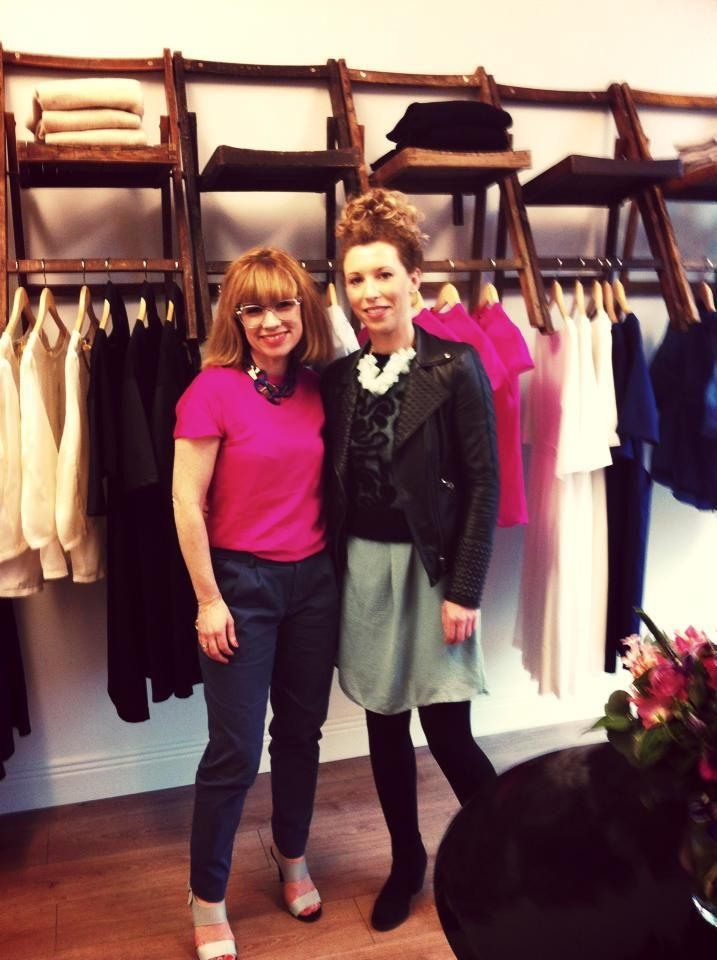 With designer Sonya Lennon of Lennon Courtney at 'The Central Dairy' March 2014