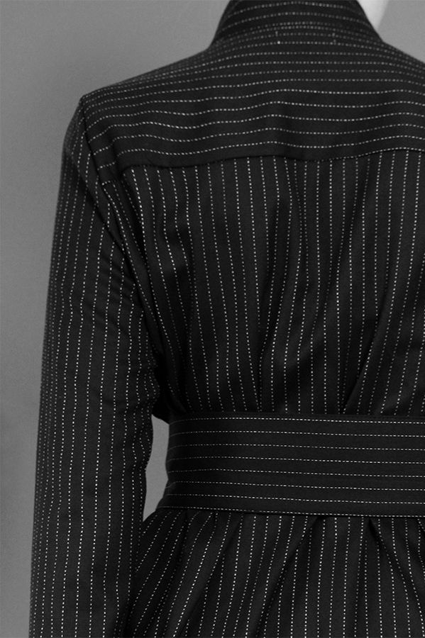 Pinstripe Shirt Dress http://honeygold.eu/product/pinstripe-shirt-dress/
