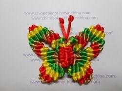 chinese knot butterfly - tutorial mariposa en macrame